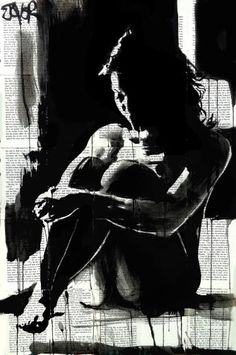 "Saatchi Art Artist Loui Jover; Drawing, ""when the night..."" #art"