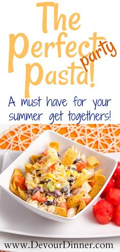 The prefect and super easy side dish for your summer get togethers!  #sidedish #summer