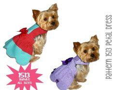 ON SALE Petal Dog Dress Pattern 1513 Small & by SofiandFriends