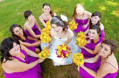 cute photos of the bride and her 'maids