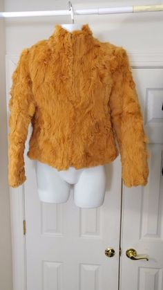 Vintage Women's 100%  Rabbit Fur Coat Jacket Full Zip Sz M #LeatherMan #BasicJacket