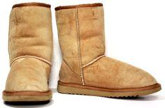 Women's UGG Australia 5825 Classic Short Suede Sheepskin Boots Chestnut sz 5   #UGGAustralia #FashionMidCalf
