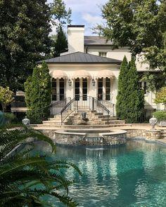 Dream Home Design, My Dream Home, House Design, Beautiful Homes, Beautiful Places, Dream House Exterior, Decorating Blogs, Exterior Design, Exterior Homes