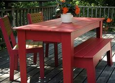 Brighten your yard with recycled materials #ecofurniture