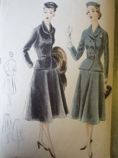 Vintage Vogue 7460 Sewing Pattern Flared Skirt by sewbettyanddot, $17.50