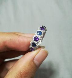 blue sapphure - amethyst