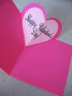 How to make pop-up cards for Valentine's Day.but can we manage to make almost SEVENTY of them in the next five days?Heart Pop-Up Valentine (Tutorial), Valentine's & Romantic CraftsSimple directions for a heart pop-upcardA nice pop-up valentine for yo Pop Up Valentine Cards, Pop Up Cards, Valentine Day Crafts, Be My Valentine, Holiday Crafts, Kids Valentines, Heart Pop Up Card, Heart Cards, Kids Crafts