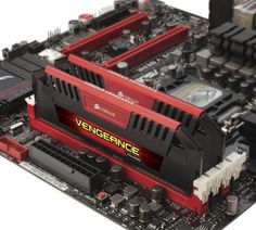 Corsair Vengeance Pro 16GB (2x8GB) DDR3 2400MHz PC3 19200 Desktop RAM, Red 1.65V