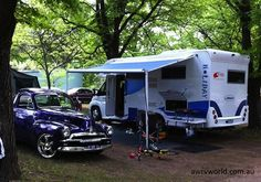 Good Times in the Sunliner Holiday Motorhome at the Bright Hot Rod Run