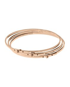 Love Michael Kors Skinny Buckle Bangles Rose Golden Gold Jewelry