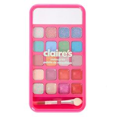 This cute and colorful make up compact is shaped like a smart phone. But you don't need an app to create cute looks with the glittery lip glosses and eyeshadows included. Easily carry this make up set in your purse or back up with it's slender design. Makeup Toys, Barbie Makeup, Kids Makeup, Little Girl Toys, Toys For Girls, American Girl Doll Sets, Minnie Mouse Toys, Disney Coffee Mugs, Barbie Accessories