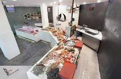 Pescadería - Diseño pescadería - pescadería moderna - mostradores pescadería - interiorisme comercial - poissonnerie - pescheria