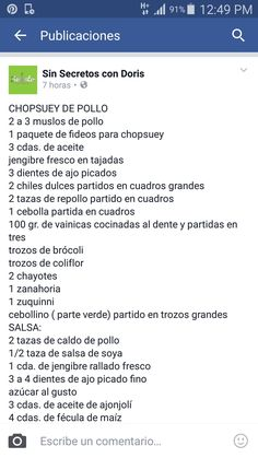 CHOPDUEY DE POLLO