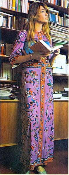 Francoise Hardy 60s Vintage Psychedelic Hippy Dress