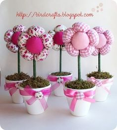DIY Plush Flowers In Pots ~ Someday Crafts: Guest Blogger