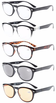 a6756ae7a5c Eyekepper 5-Pack Readers Include Reading Glasses Sun Readers Computer Glasses  Men R086-5pc-Mix