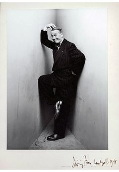 Often Penn's corner got the best out of his subjects - Maurice Chevalier in 1948
