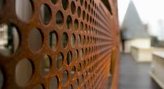 Metal solar shading / perforated - CHÂTEAU DE CANGÉ by Dominique Blondel - RMIG Pinned to Garden Design - Walls, Fences & Screens by Darin Bradbury of BASK Landscape Design.