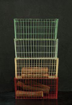 4 Piece Metal Log Rack Set