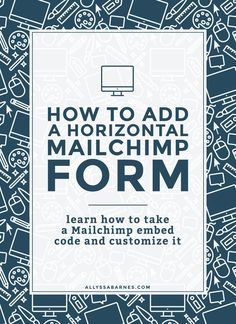 How to Add a Horizontal Mailchimp Form | Want to add an horizontal opt-in but not sure how? In this tutorial, I'll show you how to take a…