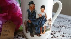 $5.21 for sale 2017 Norman Rockwell The Lighthouse Keepers Daughter 1982 Porcelain Coffee Mug With Gold Trim / Tea Cup / Vintage / Norman Rockwell Museum Cup has a beautiful gold trim on the rim and handle No chips or cracks-- seems to be in excellent condition.  Front of cup has artwork Back of cup states The Lighthouse Keepers Daughter With needle and thread in hand, she carefully mends a jacket that is nearly as old as she. Her father, the lighthouse keeper, works hard so that his…