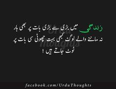 Urdu Thoughts - Famous Urdu Quotes - Urdu Saying Images