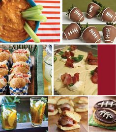 Some cute tailgating food ideas! This looks so good!