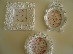 Trio De Espelhos Provençal com tecidos