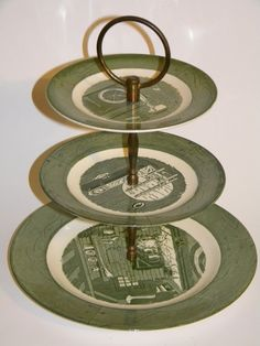 Colonial Homestead 3 tier tidbit tray Royal China by jjmartz, $15.00 I WOULD LOVE TO HAVE THIS FOR THIS PRICE