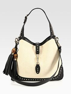 Gucci - New Jackie White Straw Shoulder Bag - Saks.com