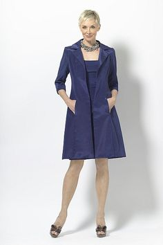 Taffeta sheath long sleeve Blue Mother of the Bride Dress picture 1 Father Of The Bride Outfit, Mother Of The Bride Gown, Mob Dresses, Blush Dresses, Formal Dresses, Bridesmaid Dresses 2014, Glamorous Dresses, Bride Gowns, Mothers Dresses