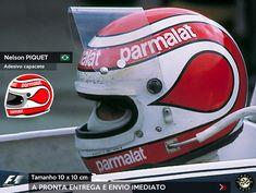 Adesivo Nelson Piquet Capacete F1 Formula 1 Sticker