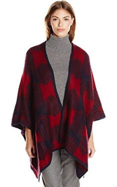 Olive & Oak Women's Oversized Cape Sweater, Cranberry Crush, Large ❤ Olive & Oak Womens Contemporary