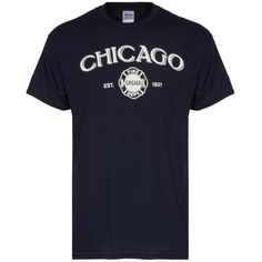 Chicago Mens Navy Chicago Fire Department Tee - A Clark Street Sports Exclusive Chicago Fire Department, Fire Dept, Chicago Shirts, Navy, Tees, Sports, Mens Tops, T Shirt, Hs Sports