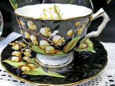 lily of the valley cup and saucer.