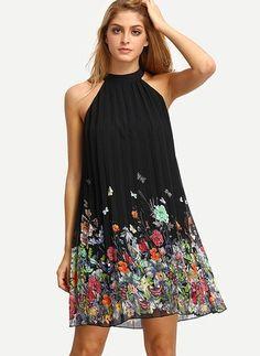 Polyester Diz üstü Sevimli Kolsuz Çiçek Elbiseler