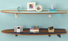Surfboard shelves.