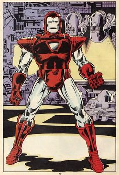 Silver Centurion Armor, by Mark Bright. Tony gears one this one to fight against Obadiah on Iron Man #200