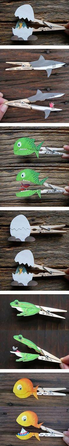 Creative clothespins…