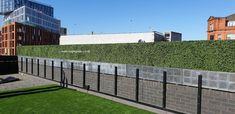 Bespoke 16m long artificial hedge, 60cm tall and 30cm wide.  Manufactured, supplied and installed by Bright Green at a hotel in the UK