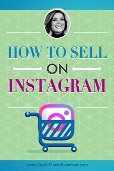 Is your business on Instagram?  Do you want to use Instagram as a revenue stream?  To find out how to use Instagram for sales, Michael Stelzner interviews Jasmine Star (@jstarphotos). Via @smexaminer.