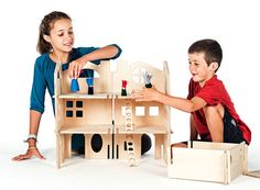 DIY Holz Modern Dollhouse / / Funken Kreativität von manzanitakids
