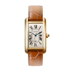 Tank Américaine watch Cartier, large model; $15,700