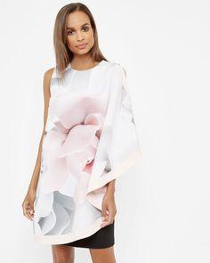 Porcelain Rose layered tunic - Ecru | Dresses | Ted Baker