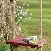 Our rope tree swing will take you back in time. Retro tree swing is simple and classic - just like you remember. Enjoy this wood tree swing on a tree or porch. Country Life, Country Living, Country Farm, Country Style, Swing Set Accessories, Rope Swing, Quiet Storm, Relax, Cedar Trees