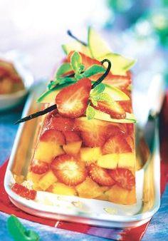 Terrine de fraises et melon à la vanille