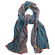 PATCH NYC - SCARVES - PATCH NYC CLASSIC MIXED FABRIC SCARF {FSC407}