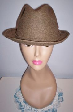 "Vintage Men's Pendleton Fedora Trilby Dress Hat 23"" Sz L Wool Lined A207-020 USA #FedoraTrilby"