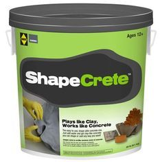 Sakrete of North America Shapecret Conc Mix. The product is Highly durable. This product is easy to use. The product is manufactured United States. Cement Art, Concrete Cement, Concrete Crafts, Concrete Projects, Concrete Garden, Concrete Planters, Outdoor Projects, Diy Projects, Concrete Casting