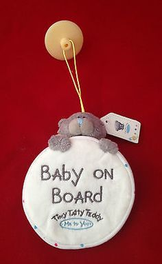 ME TO YOU TINY TATTY TEDDY BABY ON BOARD CAR WINDOW SUCTION SIGN GIFT | Me To You | Bears - Zeppy.io